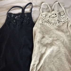 Navy blue and gray tank tops